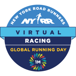 NYRR Virtual Global Running Day 1 Mile logo