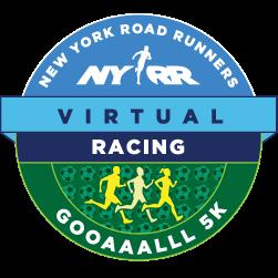NYRR Virtual GOOAAALLL 5K logo