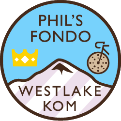 Phil's Cookie Fondo: Westlake Hill Climb logo