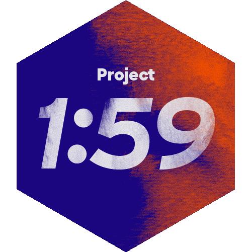 Project 1:59 logo