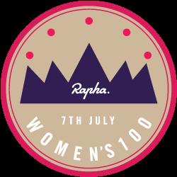 Rapha Women's 100 logo