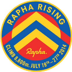 Rapha Rising: Three Ranges logo