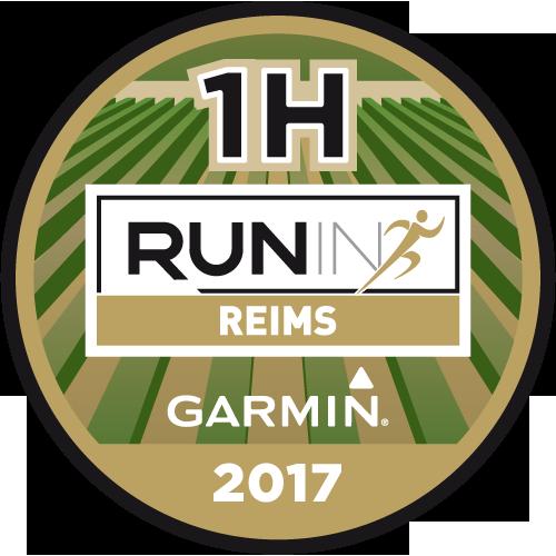 Run in Reims x Garmin logo