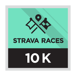 Strava race 10 km.