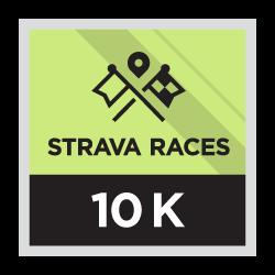 Strava Races 10 km.