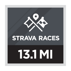 Media maratón de Strava Races