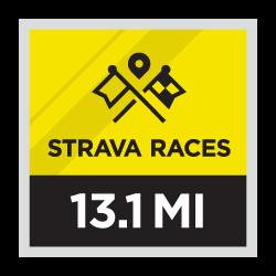 Media maratón de Strava Races