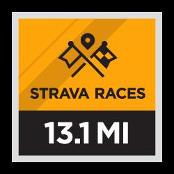 Strava Races Half Marathon logo