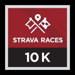 Strava Races 10k logo