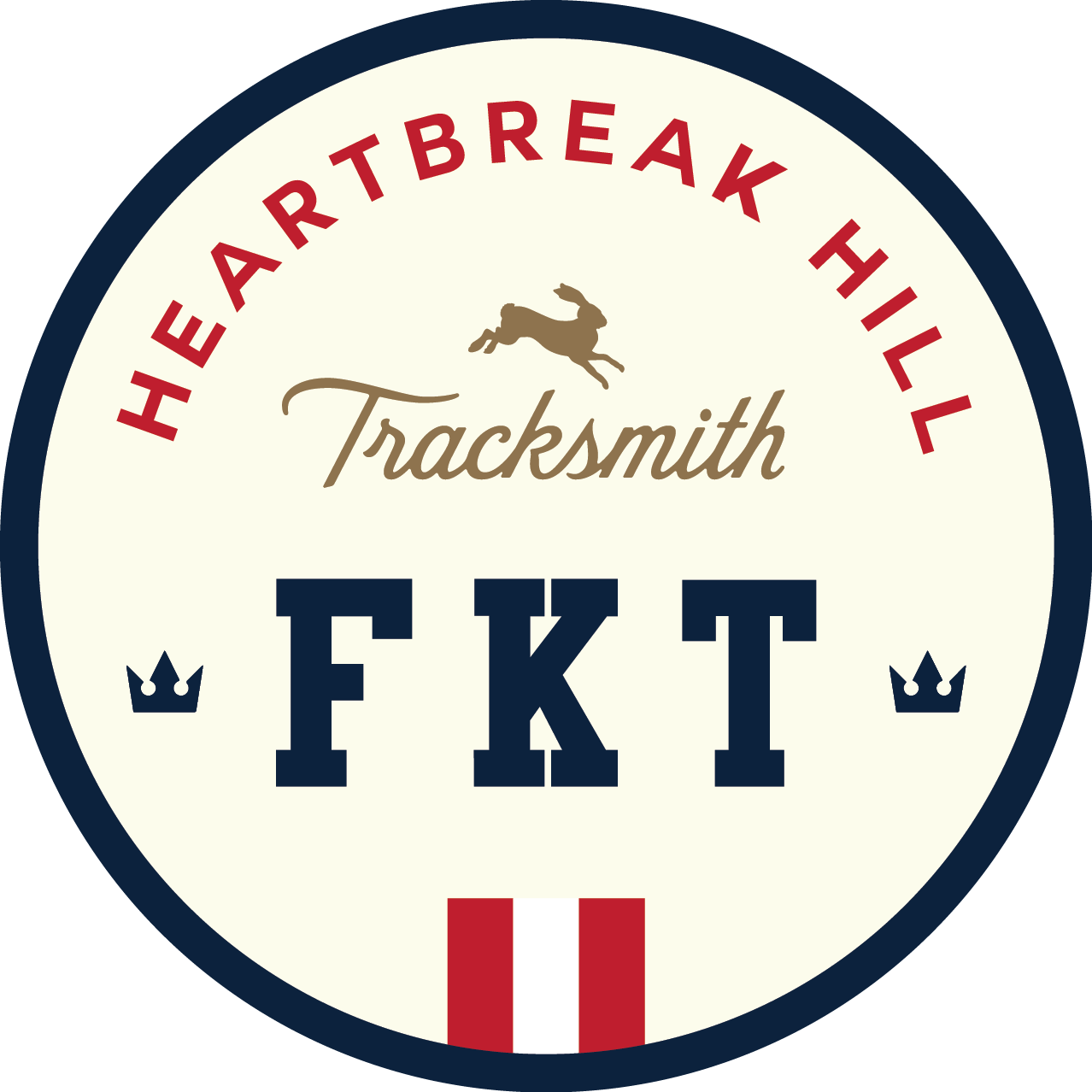 Tracksmith Heartbreak Hill FKT logo