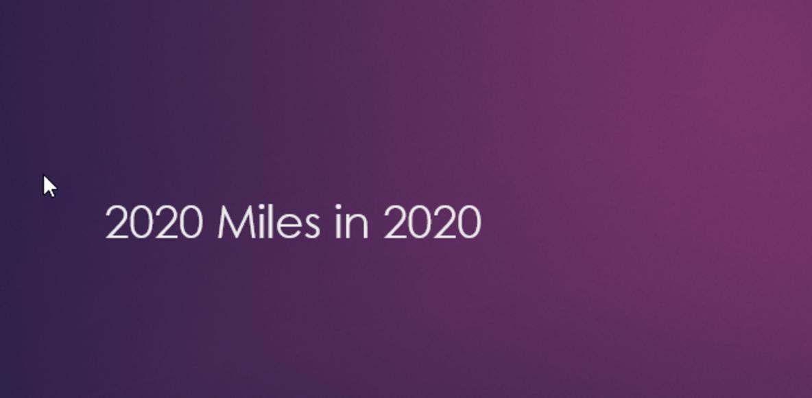 2020 miles in 2020