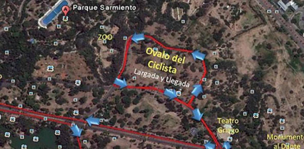 Ovalo Calesita, Pque. Sarmiento