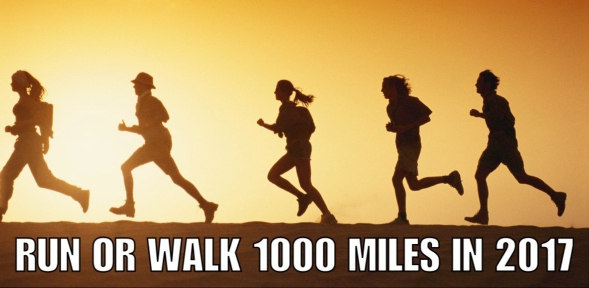 Run or Walk 1000 miles (1609kms!) in 2017