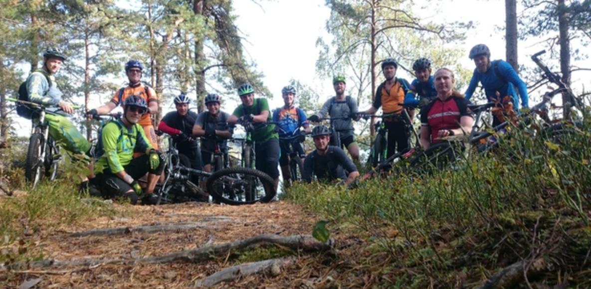 Mountainbike i Lerum