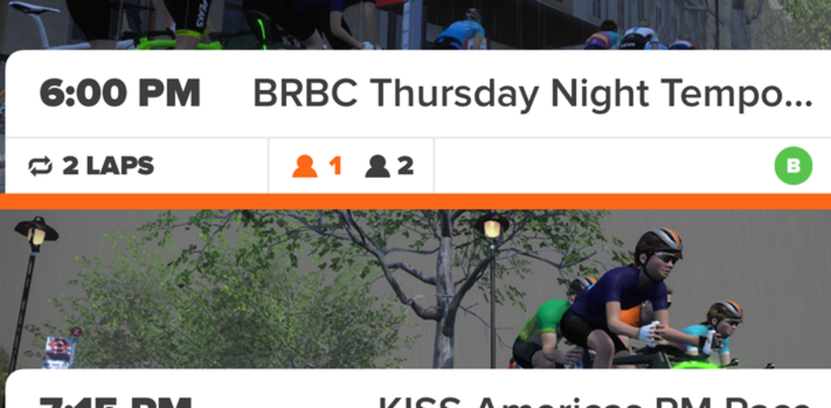 BRBC Thursday Night Steady State Ride