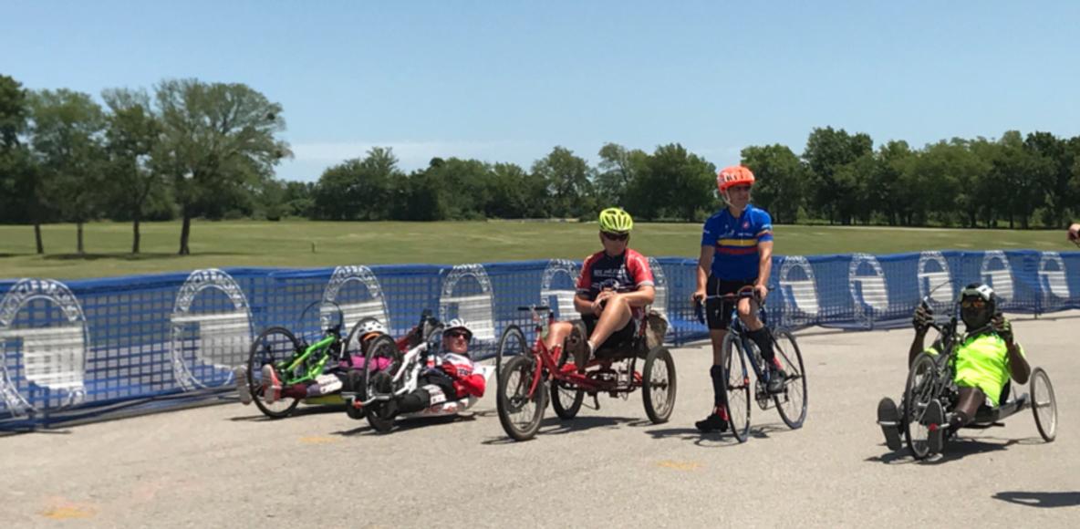 Paracyclists Peloton