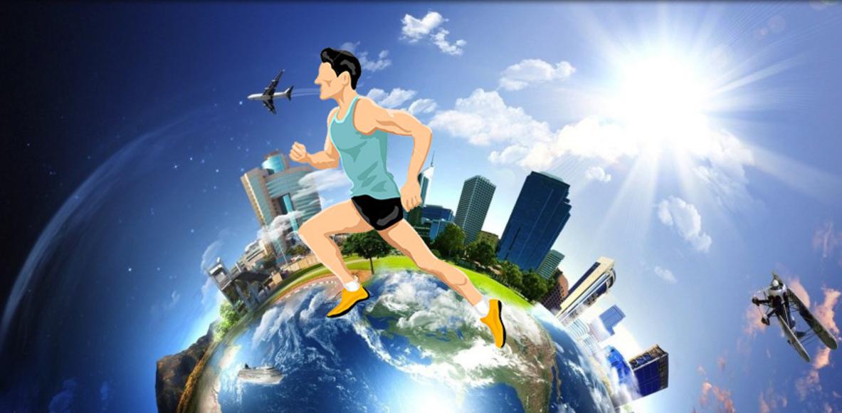 Volta ao mundo correndo