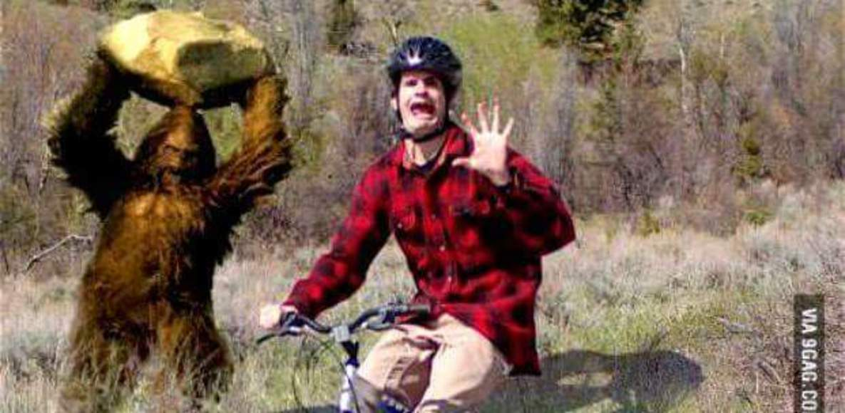 Cycling Sasquatch get off the couch