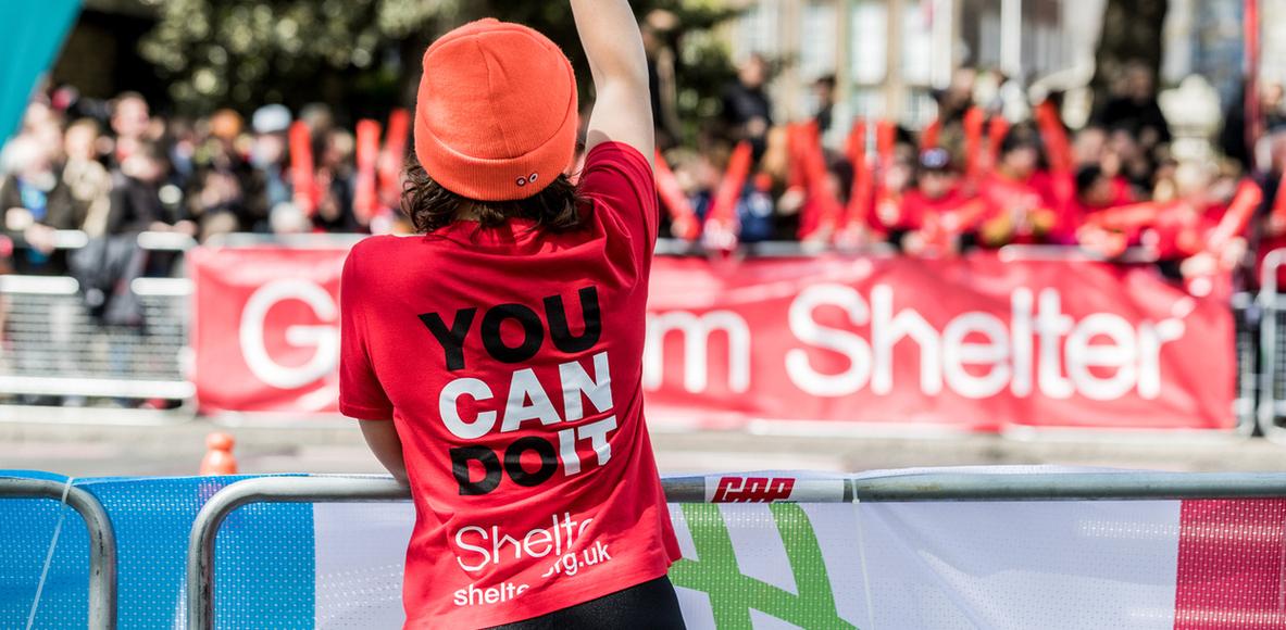 Team Shelter at the 2018 London Marathon