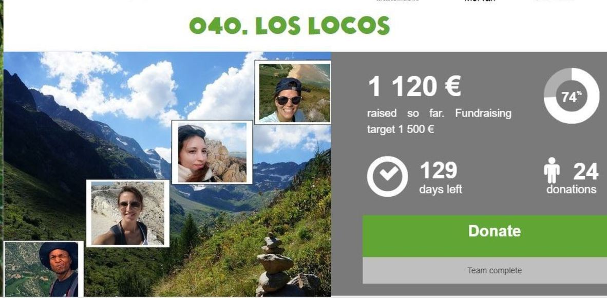 Los Locos team - Oxfam TrailWalker 2018