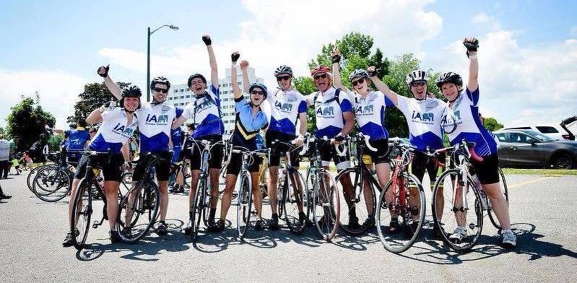 Équipe iA - Cyclo-défi contre le cancer
