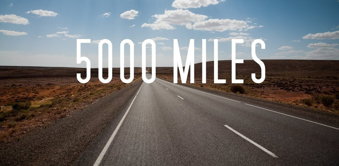 Ride 5000 miles in 2020