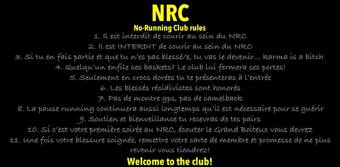 No-Running Club