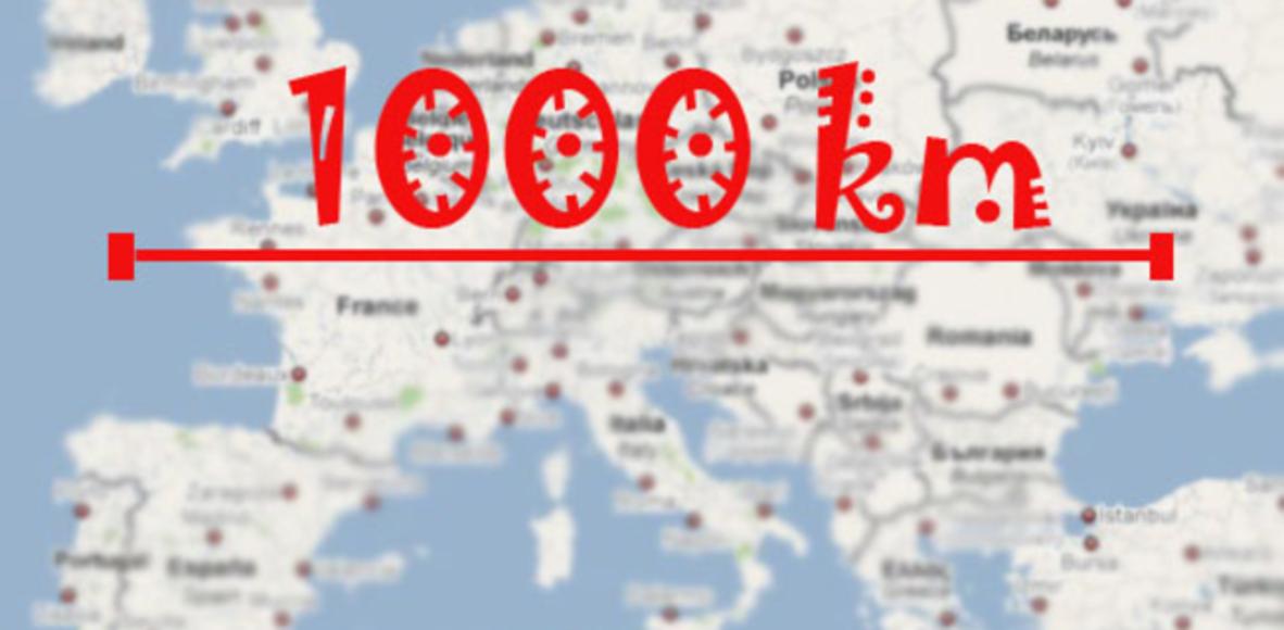 1000km en 2020 challenge