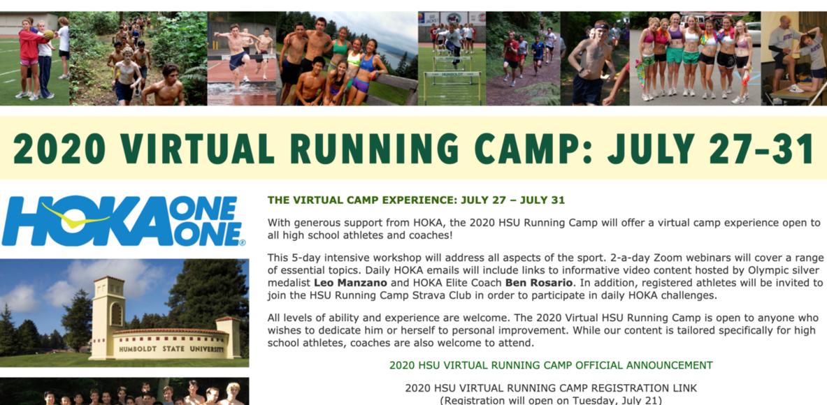 2020 HSU Running Camp – Sponsored by HOKA