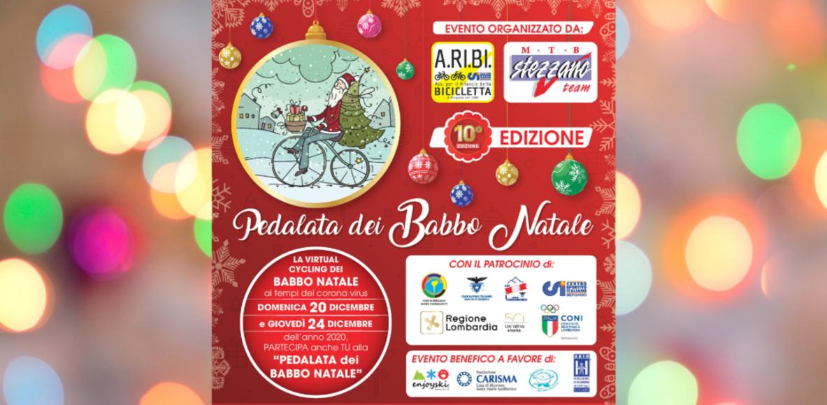 Io pedalo con i Babbo Natale