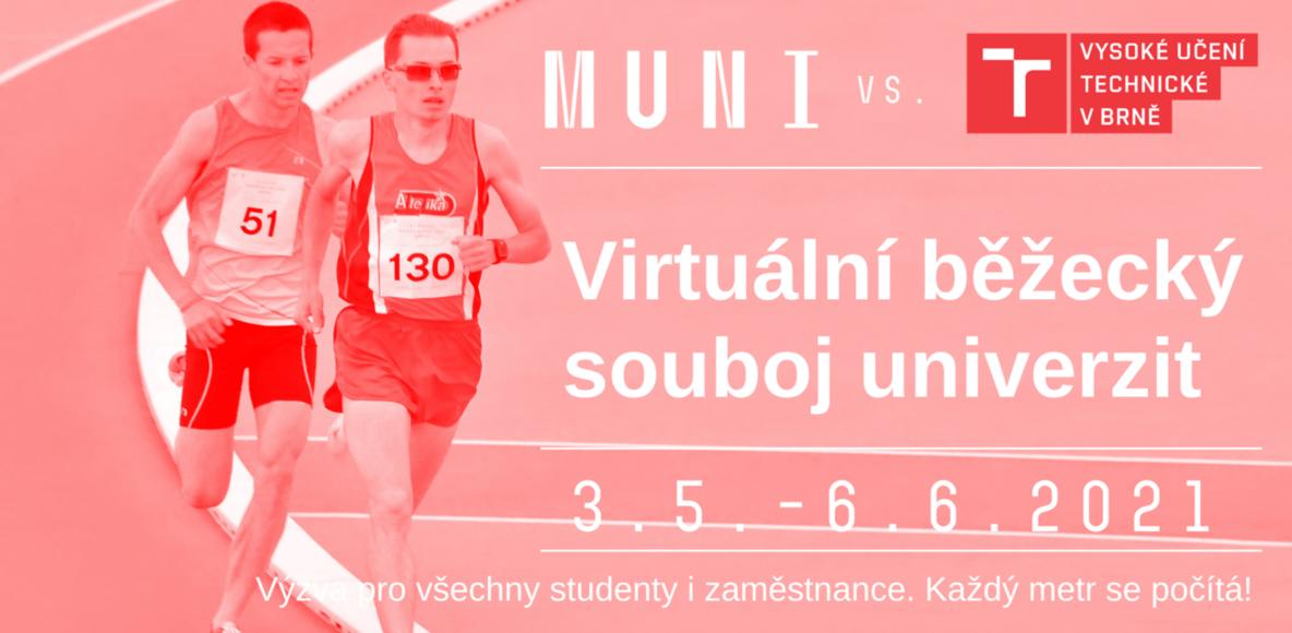 Běhej za VUT! Virtuální běžecký souboj univerzit MU vs. VUT