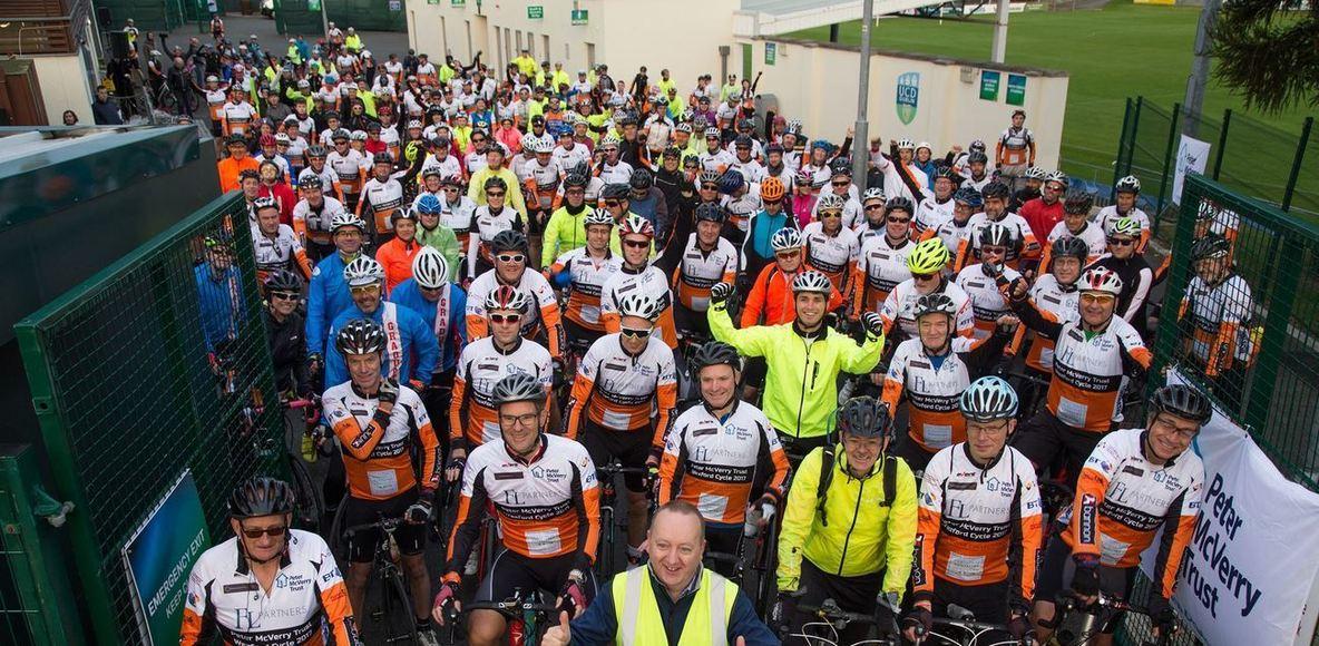 Welcome Home Wexford cyclists